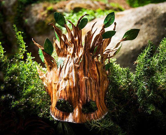 LEATHER Woodland TREE MASK greenman druid costume dryad