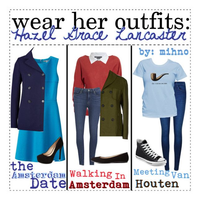 Wear her outfits: Hazel Grace Lancaster || Mihno by the-fandom-iconers on Polyvore featuring Uniqlo, Lanvin, Vince, Jil Sander, Route des Garden, Paige Denim, Calvin Klein, Converse, Jessica Simpson and Charlotte Russe