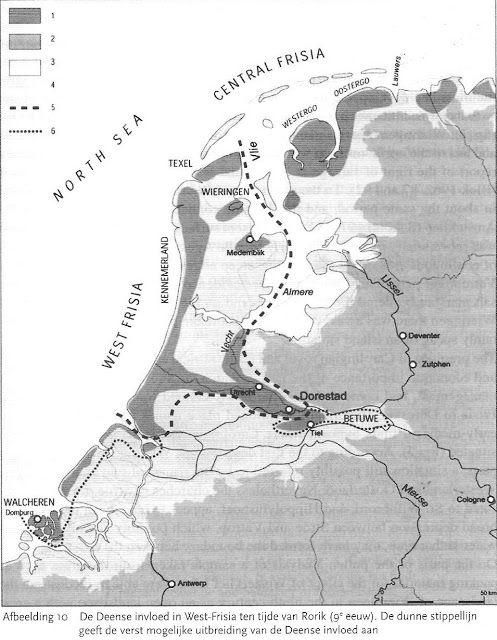 Friesland 9e eeuw en de invloed van de Denen in Frisia