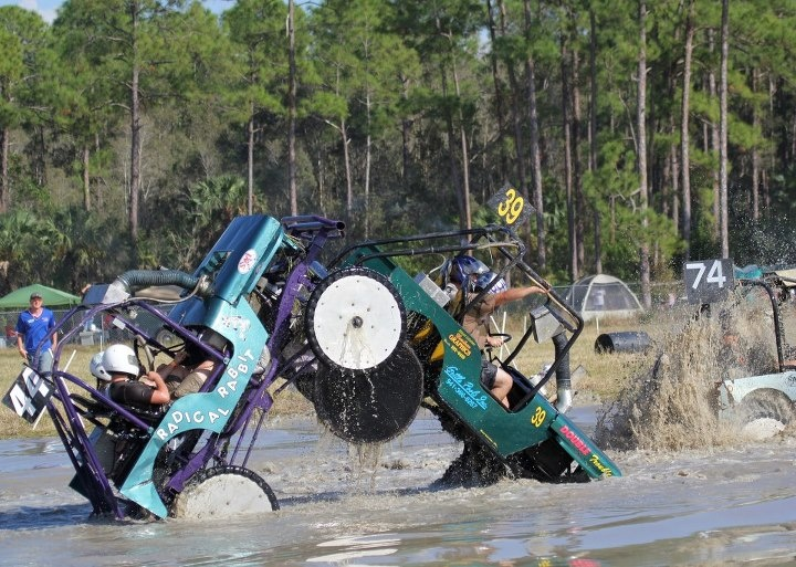 Swamp buggy racing pile up Love being involved with this sport