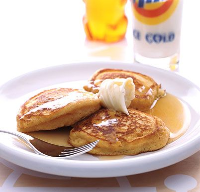 Sweet-Potato Pancakes with Honey-Cinnamon Butter