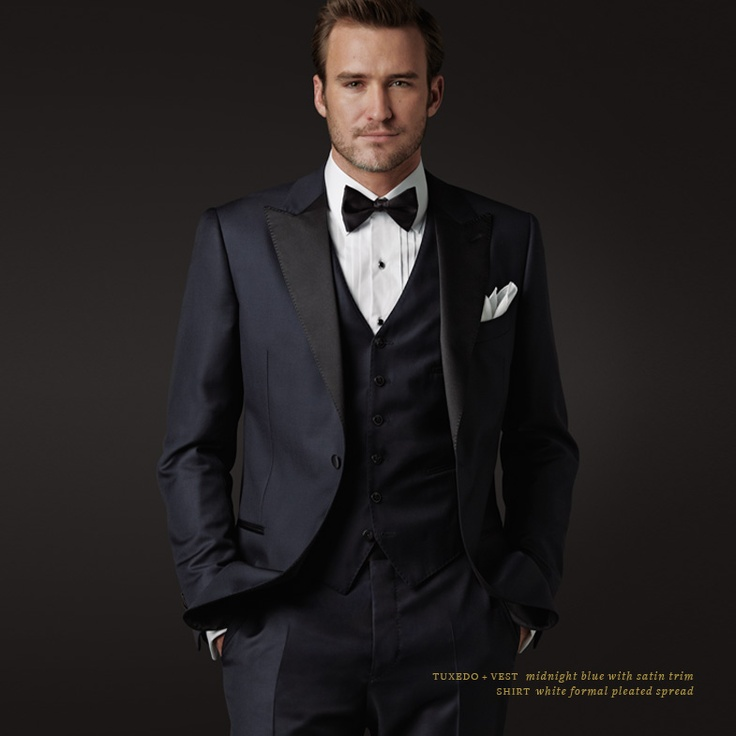 Love Midnight blue tuxes!    www.karissameador.jhilburn.comFormalwear, Master Tailored, Formal Wear, Satin Trim, White Formal,  Suits Of Clothing, Blue Tuxedos, Jhilburn Stylists, Midnight Blue