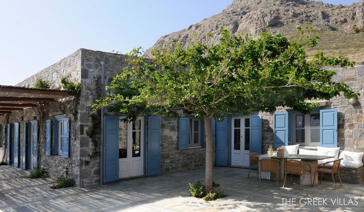 Greek Courtyard Greek Luxury Villas Serifos Villa Naya
