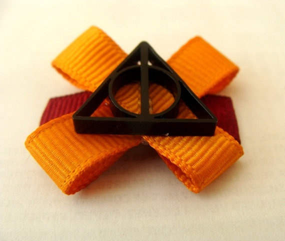 Gryffindor Deathly Hallows Hair Bow...bring This To My Baby Shower When I