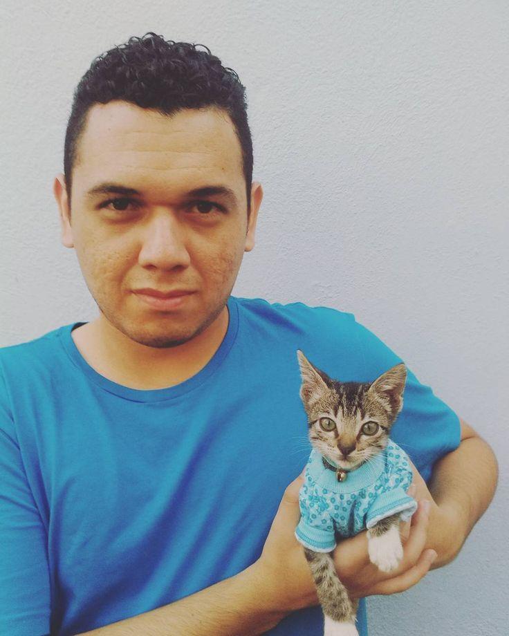 Con mijito #Rou  . #cats