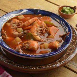 Caldo de Camarón con Chile Guajillo