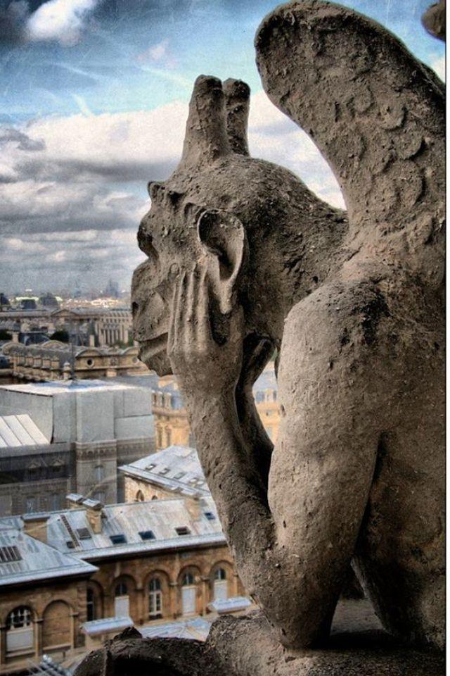 Notre Dame Cathedral Gargoyles Gargoyle, Notre Dame d...