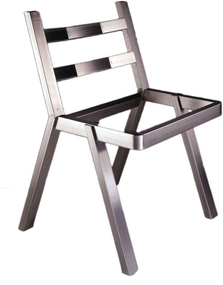 Cette chaise est entièrement réalisée en LASER TUBE, sans cintrage, sans aucune soudure
