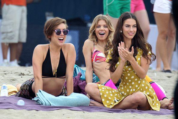 Shenae Grimes Jessica Stroup Photos: 90210 Films at the Beach
