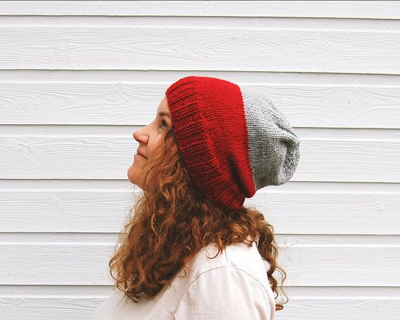Warm winter hat  two color fair isle knit by FindingNorth on Etsy