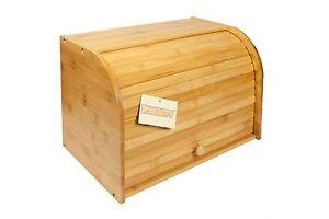 Woodluv-Bamboo-Double-Decker-2-Layer-Roll-Top-Wooden-Bread-Bin-Kitchen-Storage