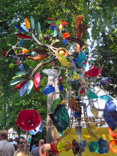 Andrew Carson's amazing kinetic wind sculptures are the reason I go to the Fort Worth Main St. Arts Fest every April.