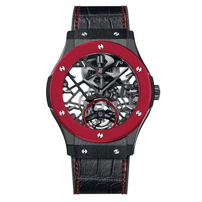 HUBLOT: Red'n'Black Skeleton Tourbillon http://www.orologi.com/cataloghi-orologi/hublot-classic-fusion-red-n-black-skeleton-tourbillon-505-ci-0140-lr-owm13