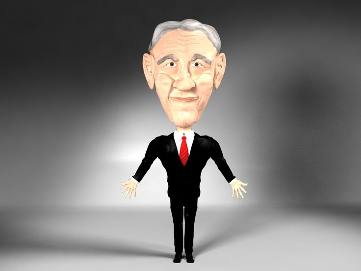 Ron Paul - Character design