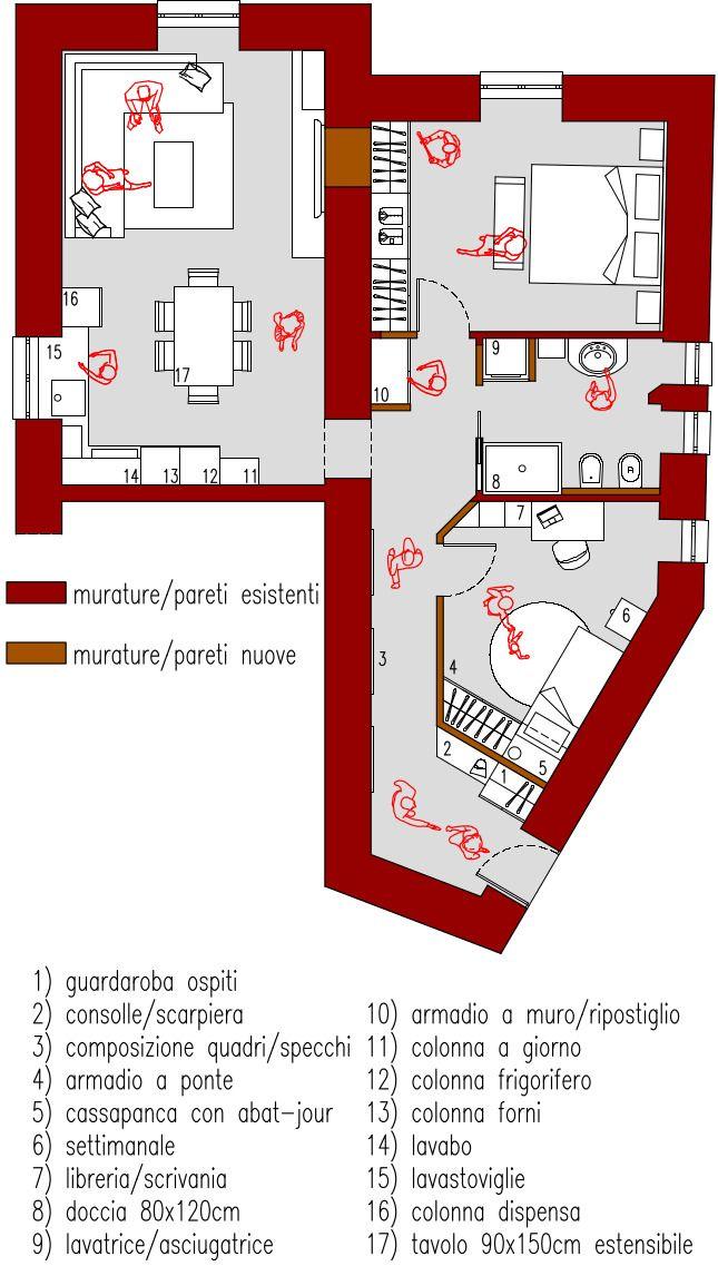 Progetto online 70 mq: si tratta di una nostra consulenza online per lo studio di un appartamento con 2 camere da letto. Consulta la nostra ampia galleria.