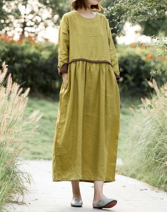 92cea9c6efc Linen robe Dress