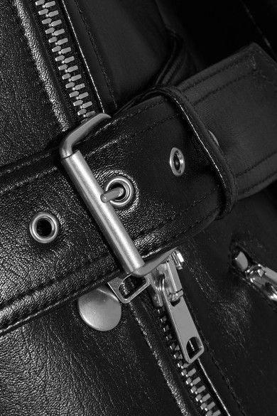 Alexander McQueen - Belted Leather Biker Jacket - Black - IT40