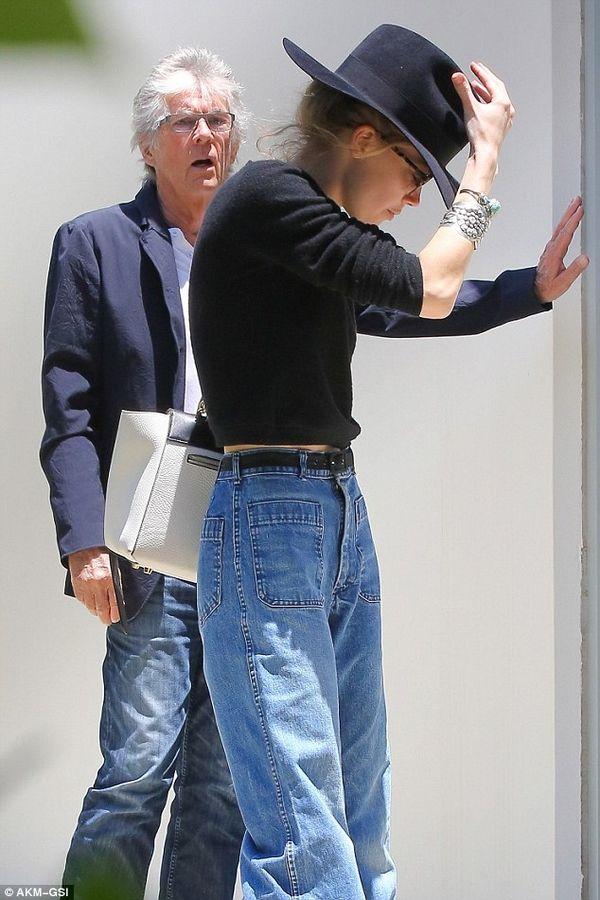 Amber Heard Style Celine mini belt bag