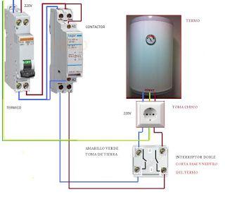 Esquemas el ctricos termo electrico doble interruptor con - Termo electrico instalacion ...