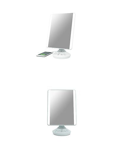 Makeup Mirrors: Ihome Reflect Icvbt2 7 X 9 Flat Panel Vanity Mirror With Bluetooth Audio Sp... -> BUY IT NOW ONLY: $102.8 on eBay!