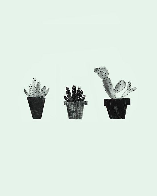 Dress Your Tech (desktop wallpaper!) cactus | via designlovefest design by Jordan Sondler