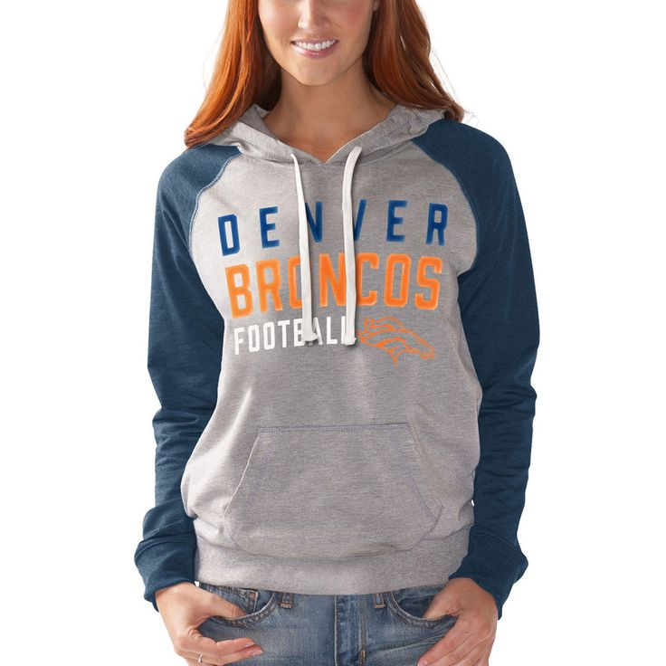 Women's Denver Broncos G-III 4Her by Carl Banks Heathered Gray West Coast Pullover Hoodie
