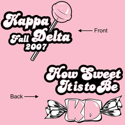 Sorority Rush Shirts. How cute it would be if it was Kappa Phi!