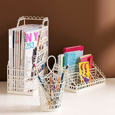 Wire Scallop Desk Accessories #pbteen $29.50 to $35
