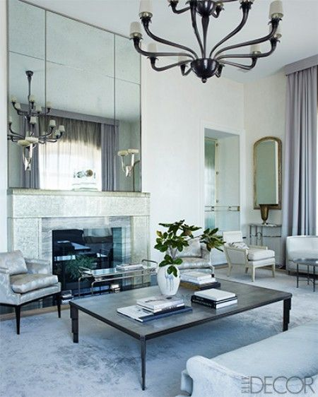 23 best Mirrored fireplace wall images on Pinterest Fireplace