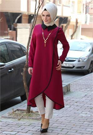 Manşet Kolyeli,Biyeli Tunik-Mor-1916, ÜST GİYİM kategorimizde siz değerli müşterilerimize en uygun fiyatlarla sunulmaktadır. Giyimkabinii.com tesettür giyim sektöründe yılların ve