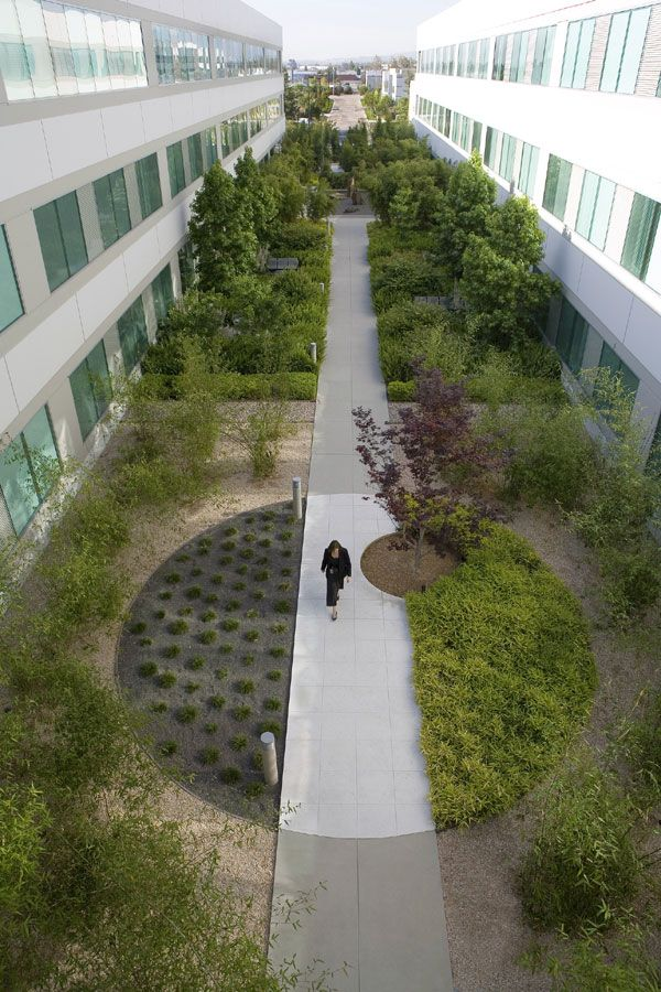 By utilizing bamboo groves dry gravel gardens and stone