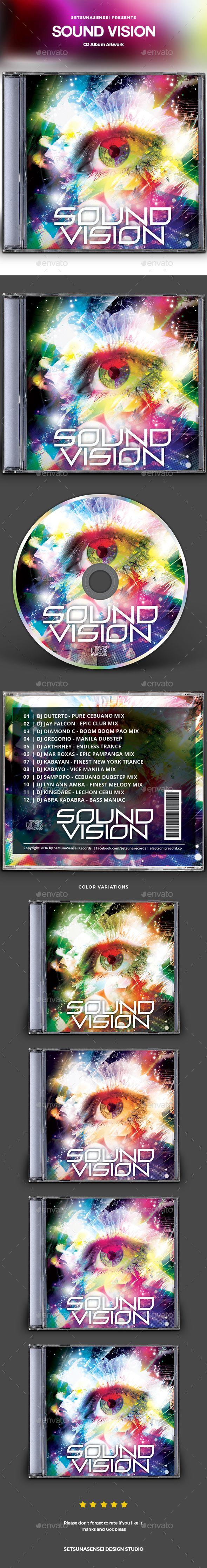 #Sound Vision CD Album Artwork - #CD & #DVD Artwork Print Templates