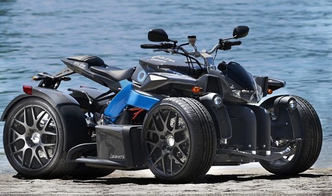 Check out this all-electric quad with more torque than an Audi A3, BMW M2 and Porsche Boxter S! The E-Wazuma from Geneva comes with an 80 hp engine that pumps out 361-lb-feet of torque that helps to give this quad more thump than many well-known exotic cars. Power is derived from two 30 KW-wheel motors mounted at the rear wheels and are matched to a 500-volt electric battery. There is also a 3-wheel version in development that may be going into production shortly.