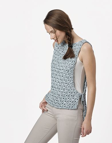 Book Woman Chic 93 Spring / Summer | 35: Woman Top | Water blue-Silver
