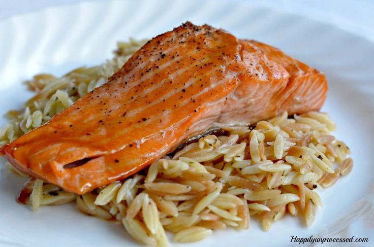 MAPLE AND BROWN SUGAR GLAZED SALMON This salmon on top of orzo is one of my all time favorite meals.  I would stay home and eat this rather than go out to a restaurant,  Seriously, it's THAT good