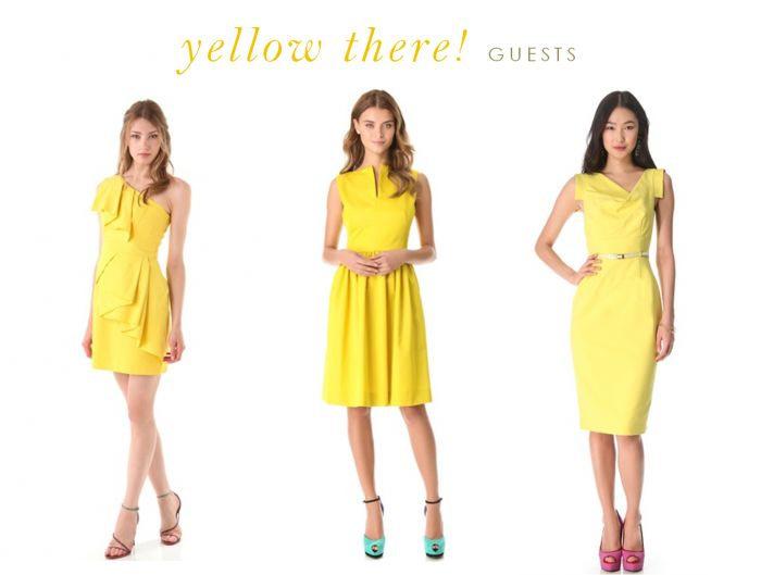 yellow bridesmaid dresses | Yellow Dresses for Bridesmaids and Guests | Dress For The Wedding