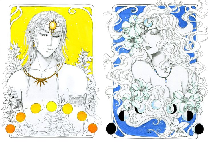 Here is some art nouveau portrait I realised for Inktober challenge, featuring the youngest greek god who appear in my comics book So here is :  Koré and Hermès (on the top) Art&#233...