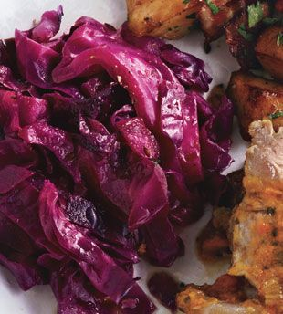 Braised Red Cabbage with Vinegar    http://www.bonappetit.com/recipes/2010/10/braised_red_cabbage_with_vinegar