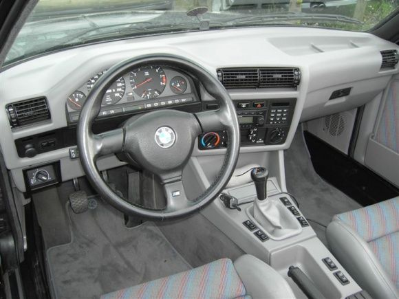 1991 BMW E30 M3 Cabriolet For Sale Interior