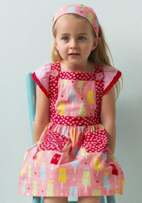 Lily Strawberry Princess Ice Cream Dress Headscarf - Strawberry Princess Ice Cream