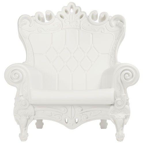 fauteuil little queen of love slide blanc