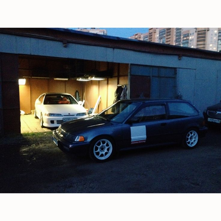 Honda Integra #dc2 #typeR & Honda Civic #ed6 Russia, Saint-Petersburg. #redliners