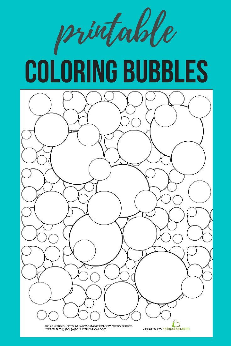 Download This Free Bubble Coloring Page Printable Printables Free Coloringp Kindergarten Coloring Pages Free Printable Coloring Sheets Cool Coloring Pages