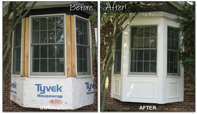 Azek Trim For Bay Window. Looks Much Nicer Than Just Having Siding Wrapped  Around It Below The Windows. | Home Exterior | Pinterest | Azek Trim, ...