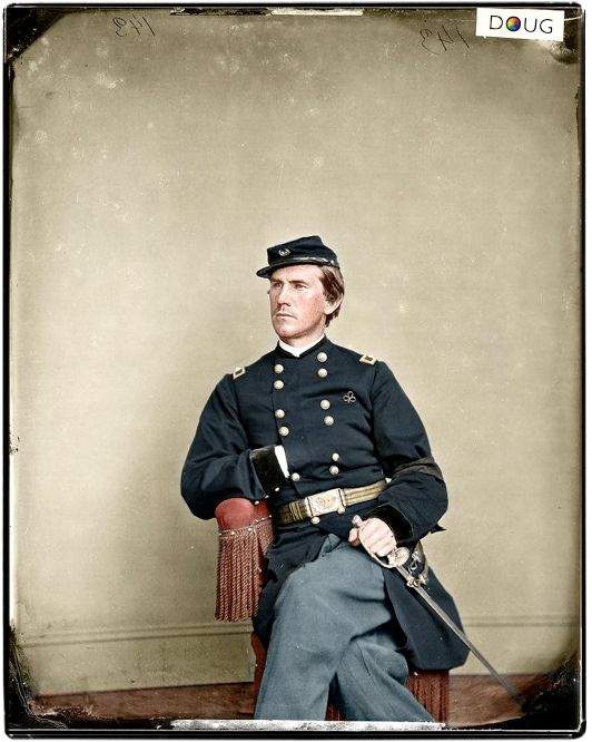 US Union Army, Brigadier General Martin T. McMahon (aide-de-camp to General George B. McClellan. c.1865.