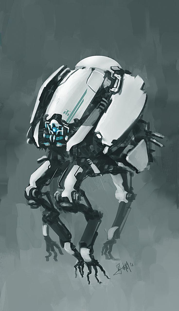concept robots: Robot concept art by Takumer Homma via cgpin.com