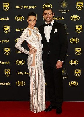 #AnthonyMinichiello and #TerryBiviano arrive at the Dally M Awards at Star City on September 29, 2014 in Sydney, Australia.