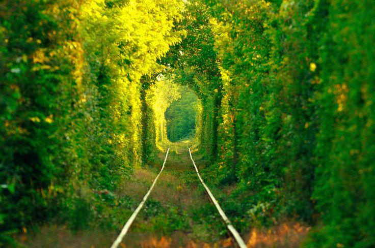Balade #romantique dans le #tunnel de l'amour de #Klevan en #Ukraine #Tunnel of #Love #travel #romantictrip #TripInsolite #travel #nature