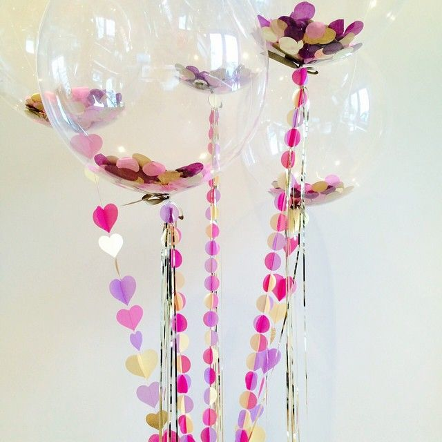 Happy Monday!  What a pretty bunch off to a very special lady! #monday #bunch #balloons #confettiballoons #birthday