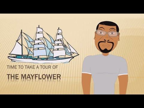 Tour of the Mayflower (Thanksgiving for Kids) Educational Videos for Stu...